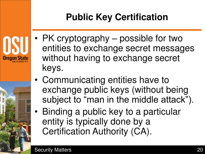 Public Key Certification