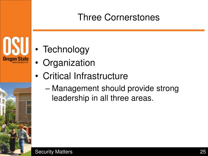 Three Cornerstones