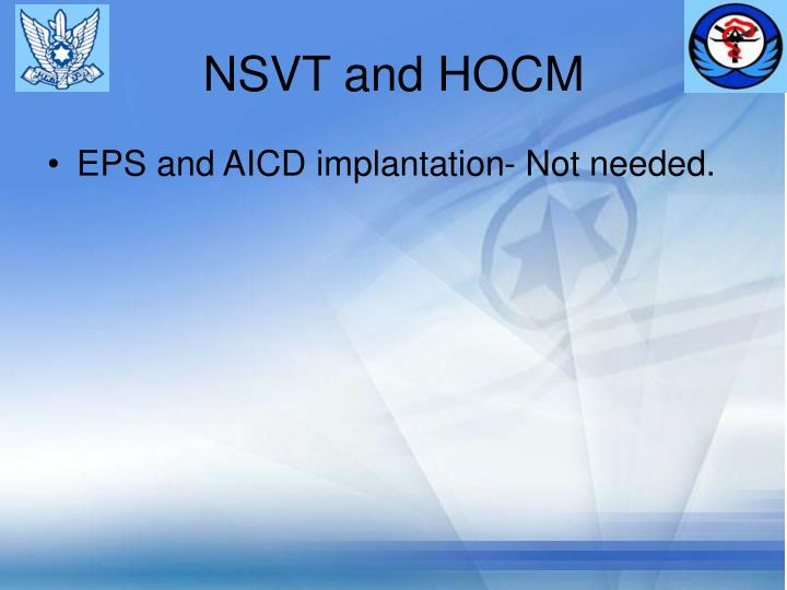 NSVT and HOCM