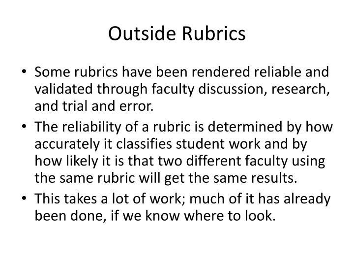 Outside Rubrics