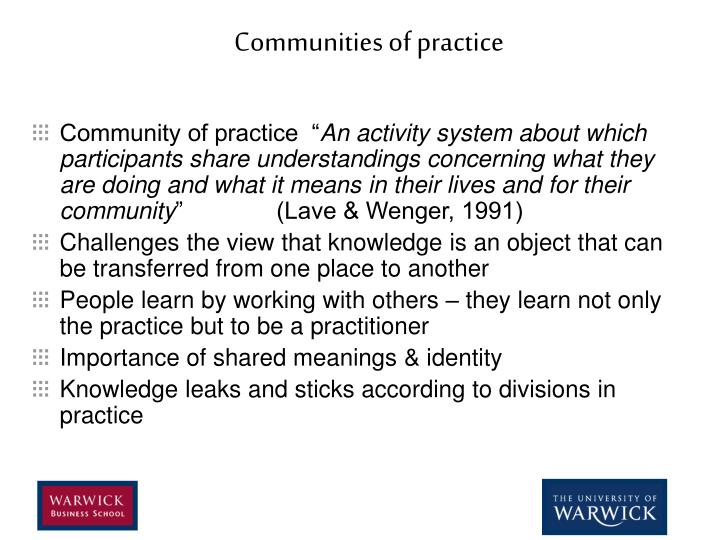 Communities of practice