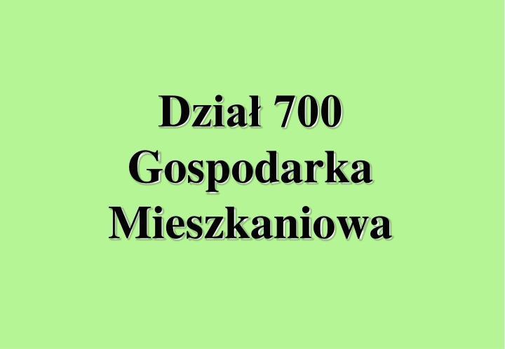 Dział 700