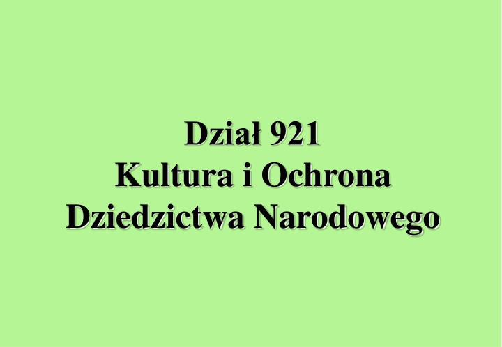 Dział 921