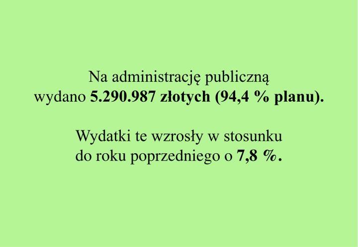 Na administrację publiczną