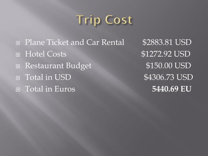 Trip Cost
