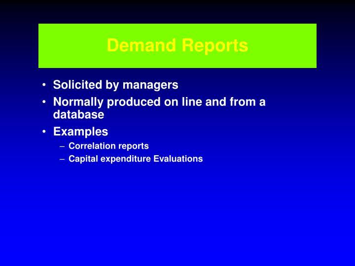 Demand Reports
