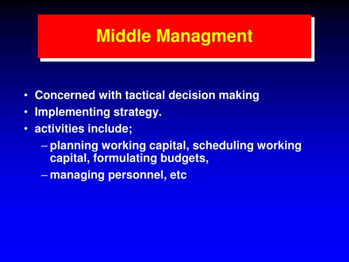 Middle Managment