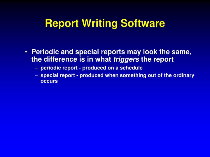 Report Writing Software