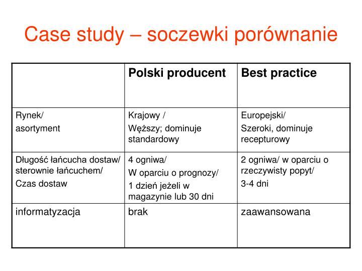 Case study – soczewki porównanie