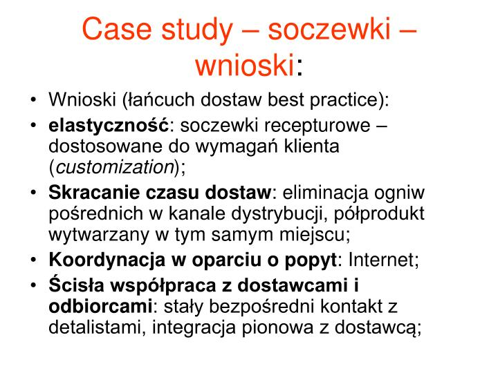 Case study – soczewki – wnioski