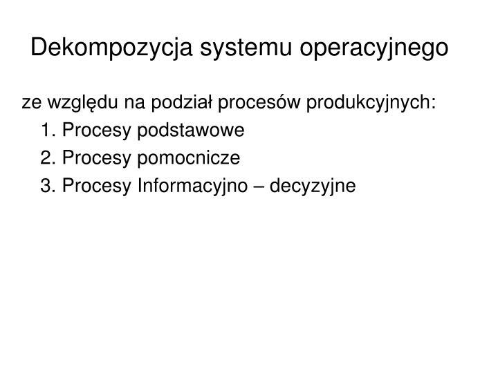 Dekompozycja systemu operacyjnego