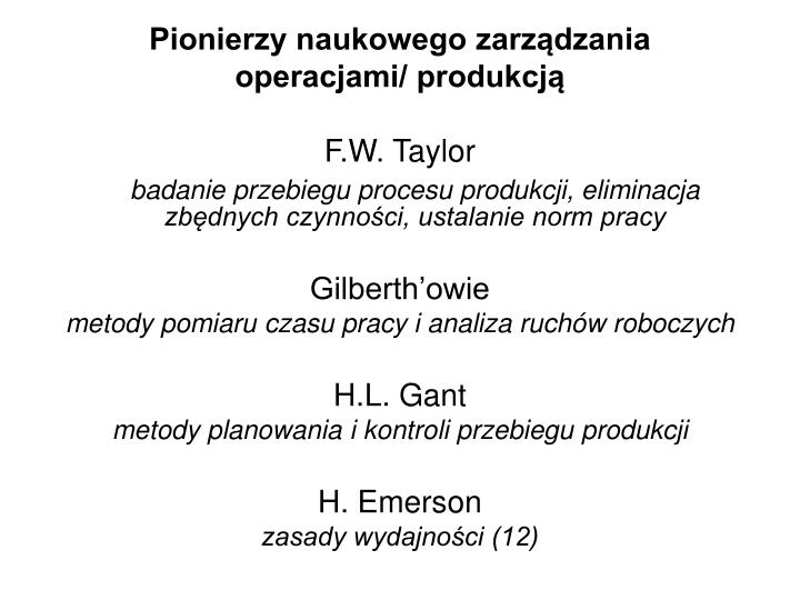 Pionierzy naukowego zarządzania