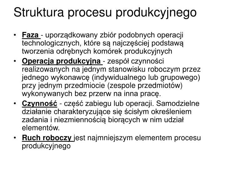 Struktura procesu produkcyjnego