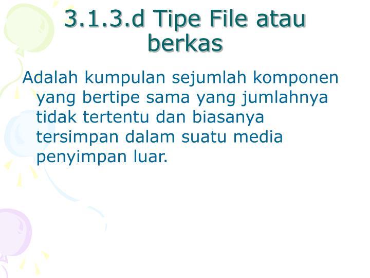 3.1.3.d Tipe File atau berkas