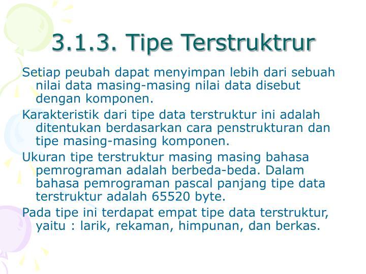 3.1.3. Tipe Terstruktrur
