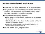 authentication in web applications1