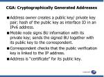 cga cryptographically generated addresses