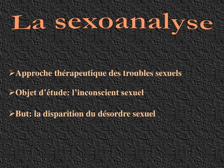 La sexoanalyse