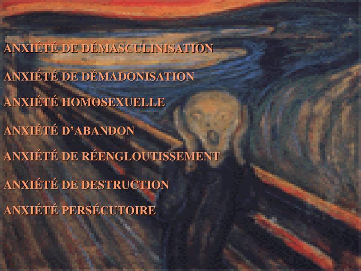 ANXIÉTÉ DE DÉMASCULINISATION