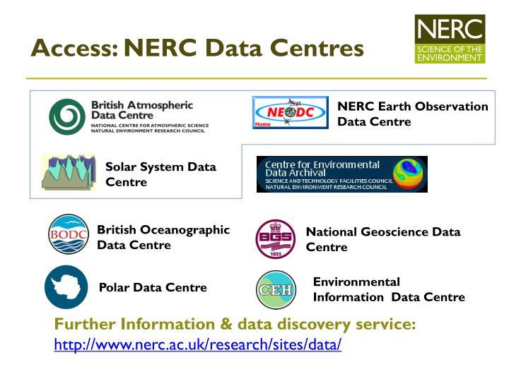 Access: NERC Data Centres