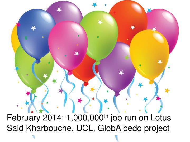 February 2014: 1,000,000