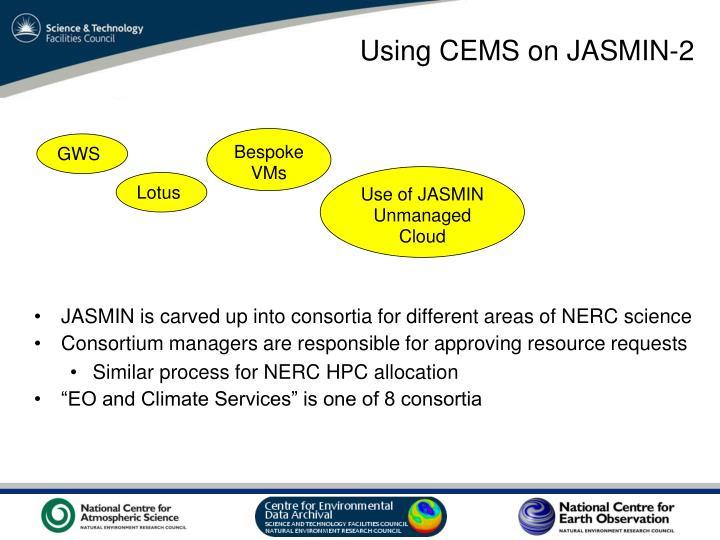 Using CEMS on JASMIN-2