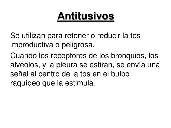 Antitusivos