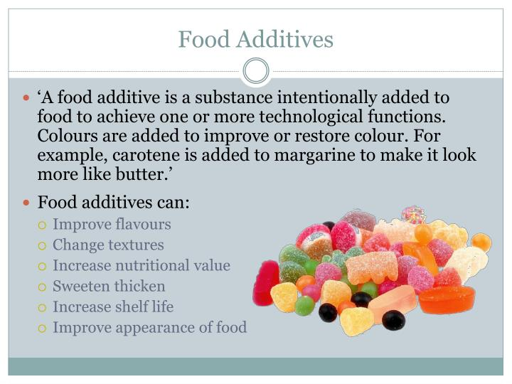 argument food additives The proof food additives are as bad as we feared if the government is serious about improving children's nutrition the ban on artificial food additives must.