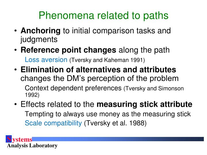 Phenomena related to paths