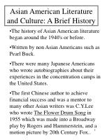 asian american literature and culture a brief history
