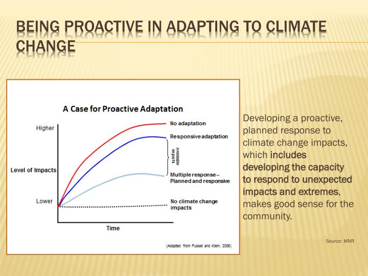 Being proactive in adapting to climate change