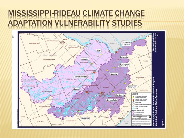 Mississippi-Rideau Climate Change Adaptation Vulnerability Studies