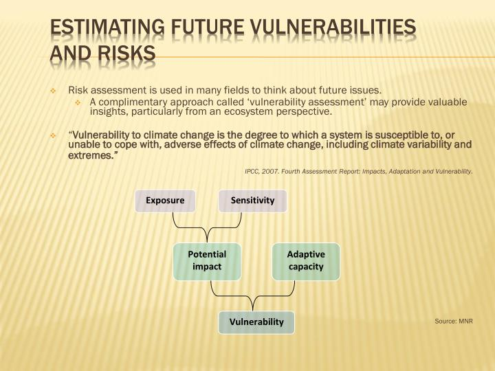 Estimating Future Vulnerabilities and risks