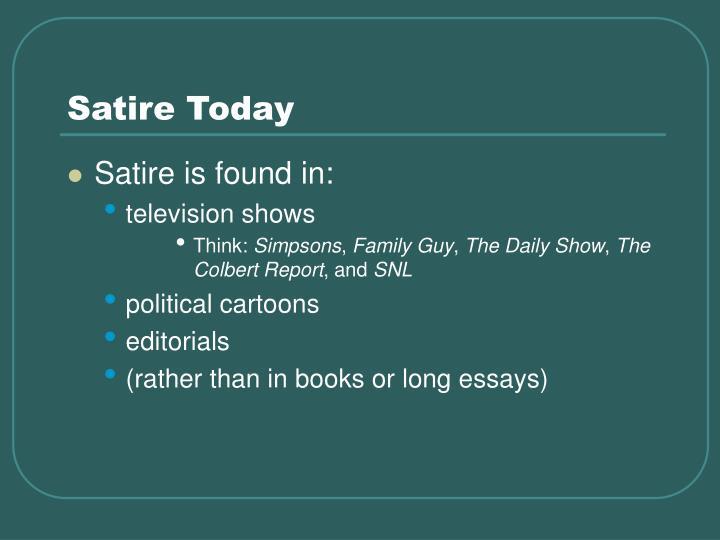 satire essay