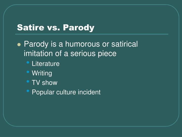 parody definition in literature