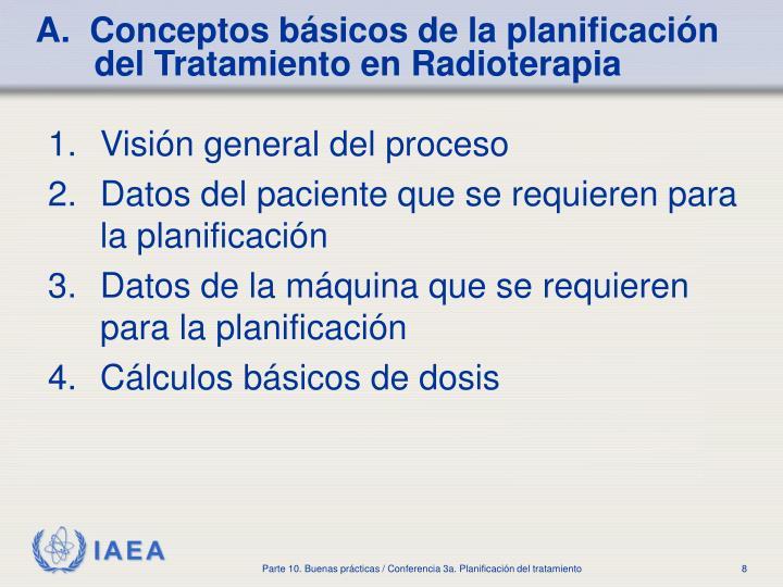 A.  Conceptos básicos de la planificación