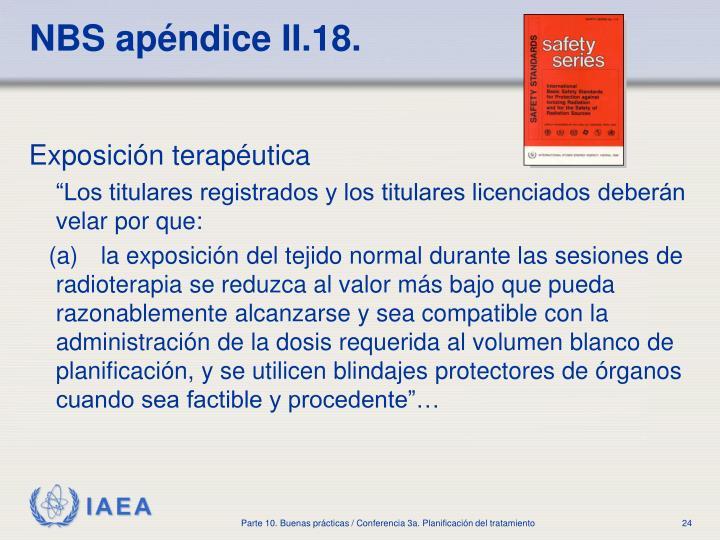 NBS apéndice II.18.