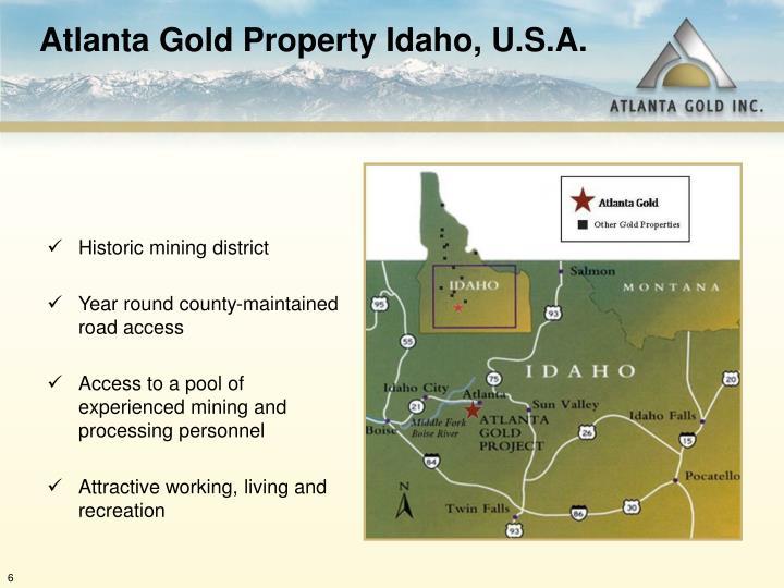 Atlanta Gold Property Idaho, U.S.A.