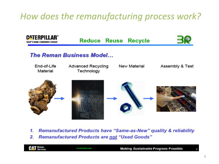 How does the remanufacturing process work?