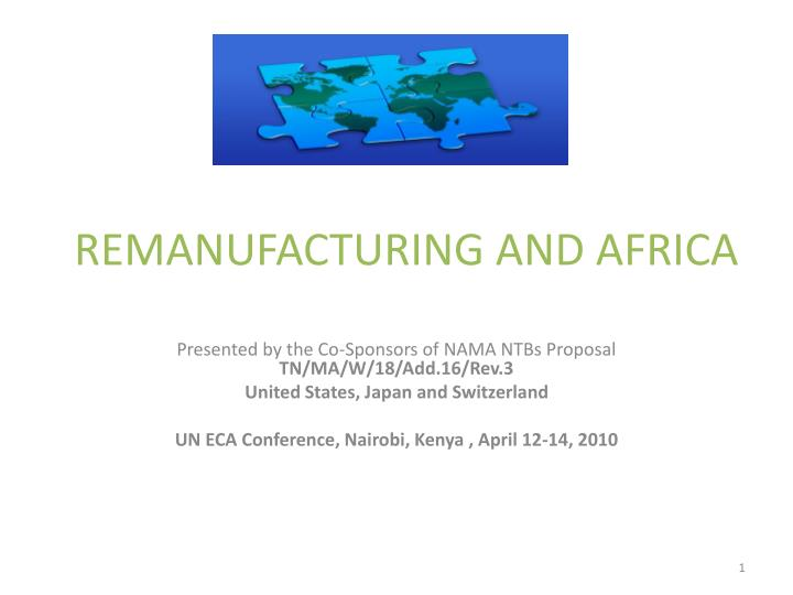Remanufacturing and africa