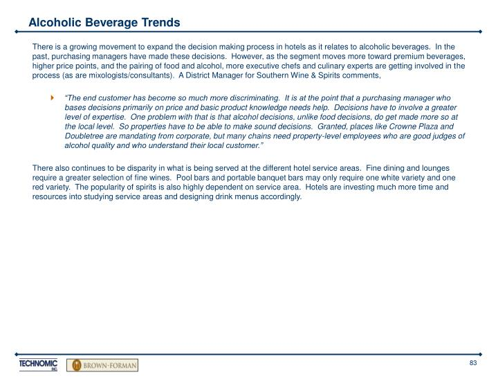 Alcoholic Beverage Trends