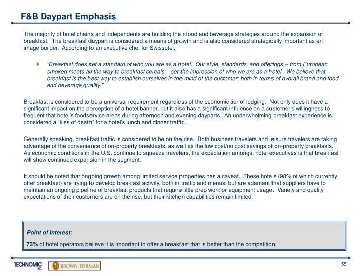 F&B Daypart Emphasis
