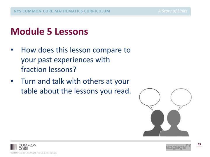 Module 5 Lessons