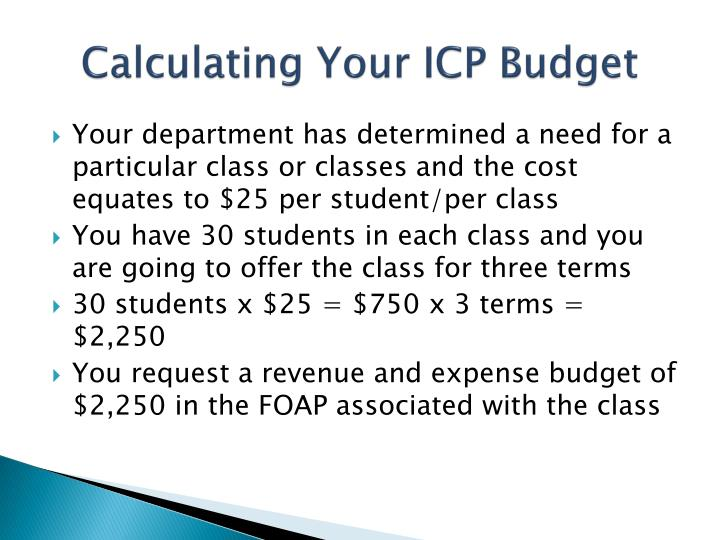 Calculating Your ICP Budget
