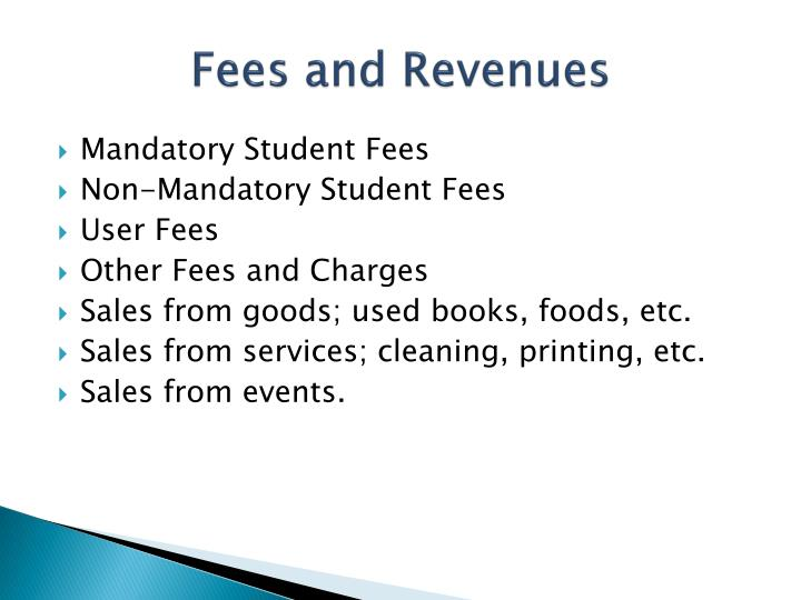 Fees and Revenues