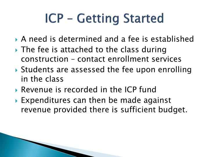 ICP – Getting Started
