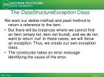 the datastructureexception class