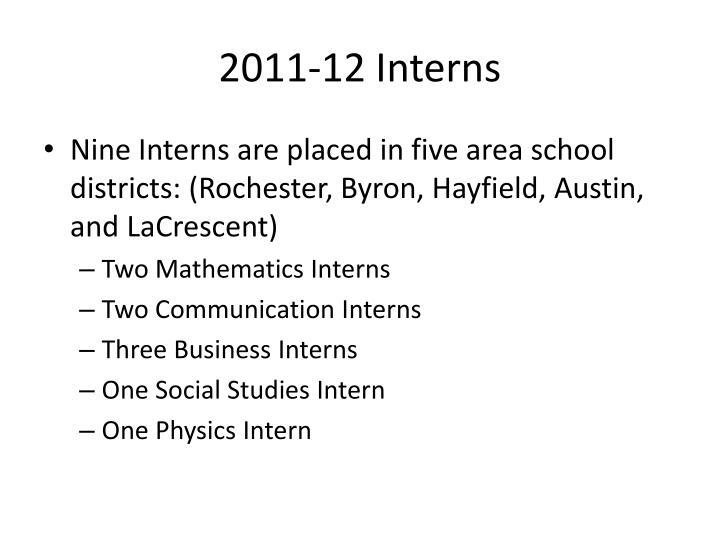 2011-12 Interns
