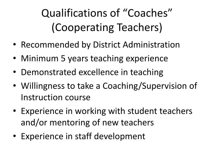 Qualifications of