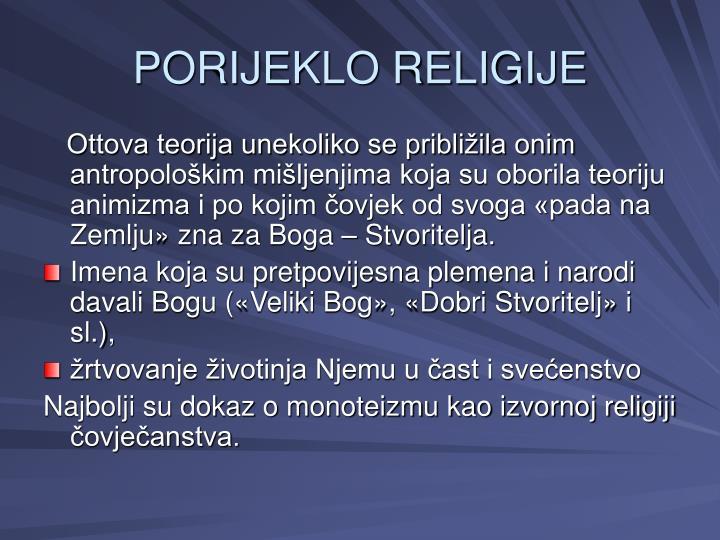 PORIJEKLO RELIGIJE
